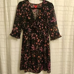 ⭐️Elle Black Floral Sheer Dress (Size S)⭐️